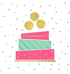 Birthday cake card vector