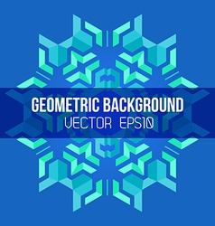 blue green symmetric abstract geometric mandala vector image