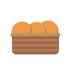 Bread in basket vector