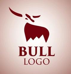 bull logo 1 vector image vector image