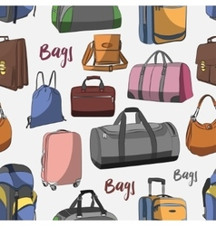 Different bags set pattern vector