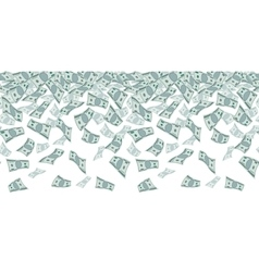Falling dollar sign money rain Seamless pattern vector image vector image