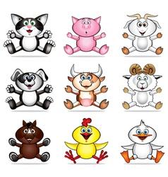 Funny pet animals vector