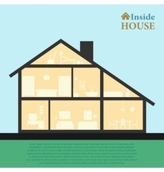 House inside Detailed modern house interior in vector image vector image