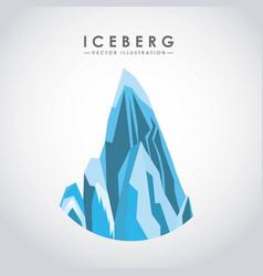 Iceberg glacier desig vector