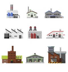 Industrial buildings flat vector image vector image