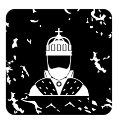 King icon grunge style vector