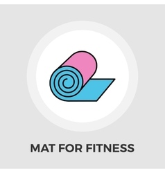 Mat for fitness flat icon vector image
