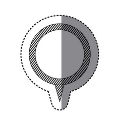 monochrome sticker of circular speech with tail vector image vector image