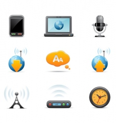 Multi media icons vector