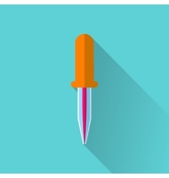 Pipette flat icon vector image