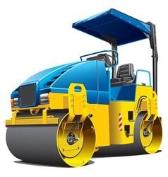 Road work compactor roller vector