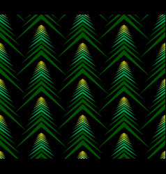 Seamless pattern of abstract spruce on black backg vector