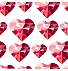 Seamless pattern with stylized diamond hearts vector image vector image