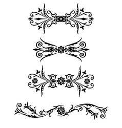 set floral ornament vector image vector image