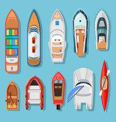 ships and boats top view vector image