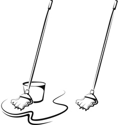 Symbolic of a cleaning service vector