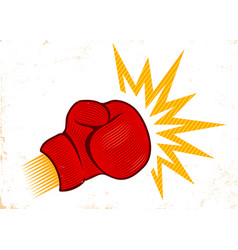 Vintage emblem for boxing vector