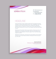 wave letterhead design vector image vector image