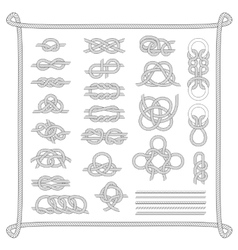 Sea boat knots set vector