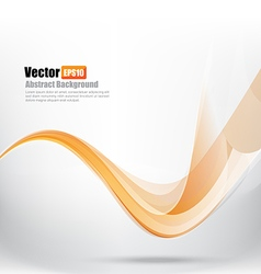 Abstract background ligth orange curve and wave vector