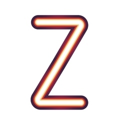 Glowing neon letter z vector