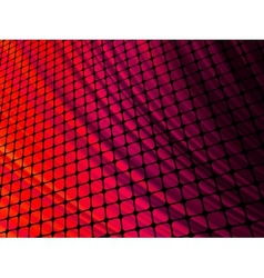 Red rays light 3D mosaic EPS 8 vector image