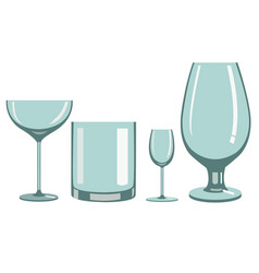 Glasses for alcoholic beverages vector