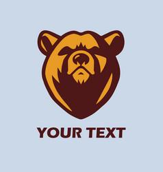 Angry bear logo template mascot design vector