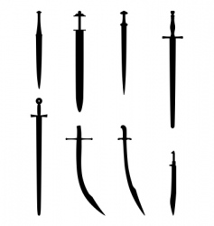 Various swords vector
