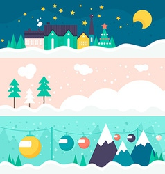 Winter card template vector