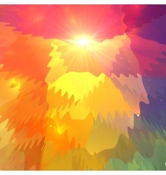 Abstract colorful waves on polygonal surface vector