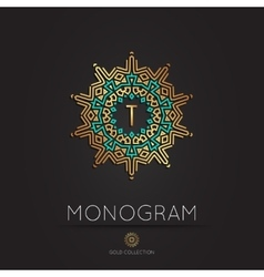 Royal elegant linear abstract monogram vector