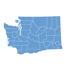 State map of Washington by counties vector image