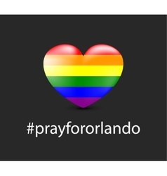 Pray for Orlando vector image