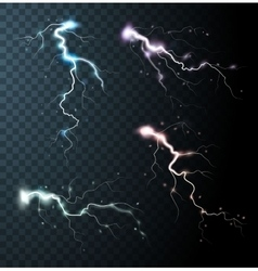 Thunderstorm realistic elements vector