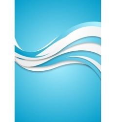 Abstract blue wavy corporate waves background vector