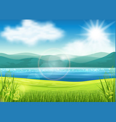 Beautiful summer view vector