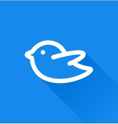 Blue bird social media web icon vector