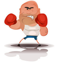cartoon angry boxer champion vector image