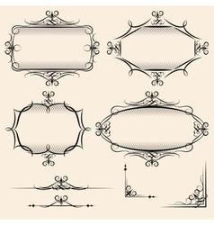 Four elegant vintage frames vector image vector image