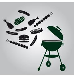 Garden grill eps10 vector