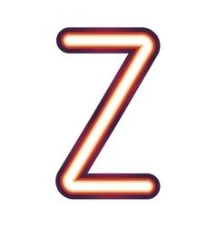 Glowing neon letter z vector