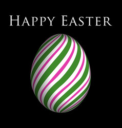 Greeting card - colored easter egg and text vector