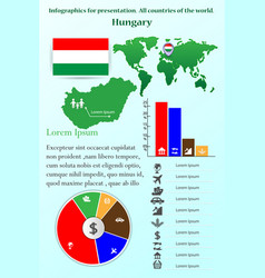 hungary infographics for presentation vector image
