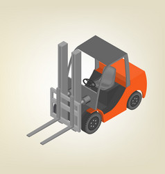 Icon forklift isometric vector
