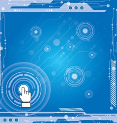 Interface modern technology vector