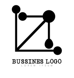 Isolated business logo vector