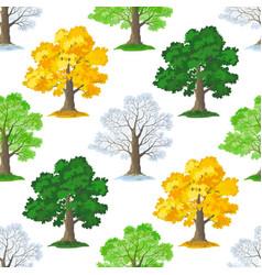 oak trees seamless vector image vector image