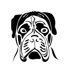 Portrait of a dog of the bullmastiff breed vector